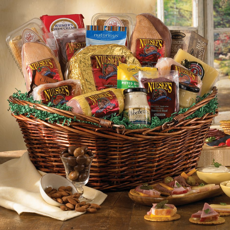 Meat And Cheese Gift Basket Gift Basket Supreme Nueske S