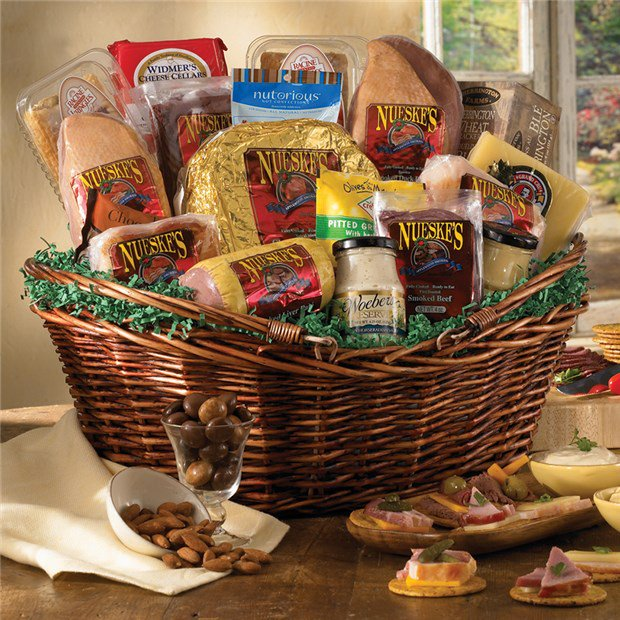 Meat And Cheese Gift Basket Gift Basket Supreme Nueskes