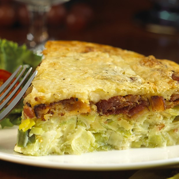 quiche is made with leeks and our sweet, robust Wild Cherrywood Smoked ...