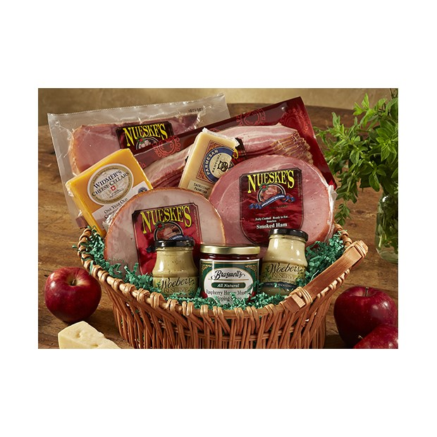 Ultimate Gift Basket :: Smoked Ham, Turkey & Bacon   Nueske's