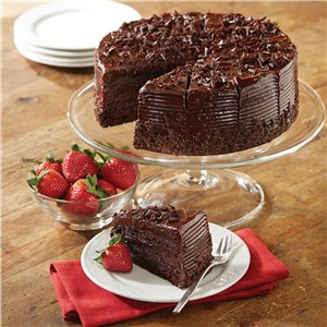 Belgian Dark Chocolate Fudge Cake