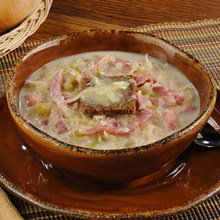 Rueben Soup with Smoked Ham