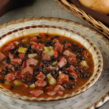 Black Bean & Kielbasa Soup Recipe