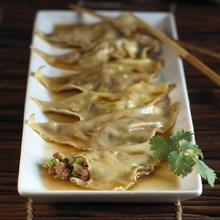 Duck Wontons with Ginger Glaze