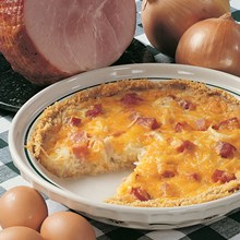 Smoked Ham & Onion Quiche Recipe