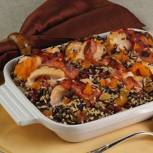 Apricot-stuffed Chicken Breast with Bacon