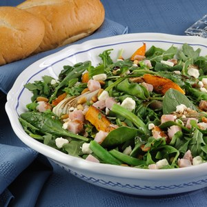 Arugula with Smoked Turkey and Butternut Squash