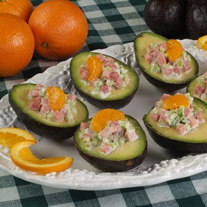 Avocado filled with Ham Salad